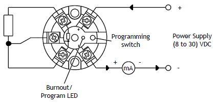 SEM203P In Head 4-20mA Temperature Transmitter for Pt100 ...