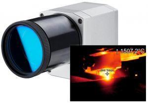 Optris PI 05M thermal imaging camera for molten metals